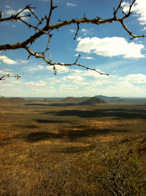 Landscape view of Madikwe game reserve from Tschwene west hill